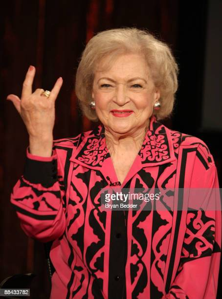 Actress Betty White visits Fuse's No 1 Countdown at fuse Studios on June 11 2009 in New York City