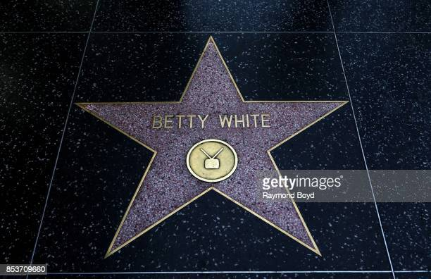 Actress Betty White's star along the Hollywood Stars Walk of Fame in Hollywood California on September 10 2017