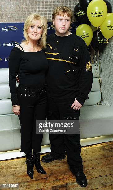 Actress Beverley Callard and her son Josh pose together at the launch of BrightStar Learning's Scholarship and dyslexia awareness programme at...