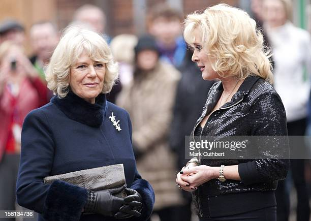 Actress Beverley Callard On The Set Of Coronation Street At Granada Studios In Manchester, With Camilla, The Duchess Of Cornwall. The Duchess'S Visit...