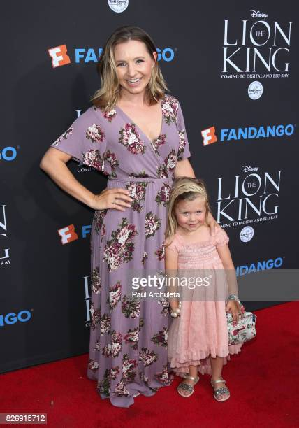 Actress Beverley Mitchell and her Daughter Kenzie Cameron attend the The Lion King singalong and screening at The Greek Theatre on August 5 2017 in...