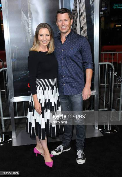 Actress Beverley Mitchell and husband Michael Cameron attend the premiere of Warner Bros Pictures' 'Geostorm' at TCL Chinese Theatre on October 16...