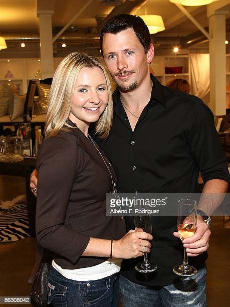 COVERAGE*** Actress Beverley Mitchell and husband Michael Cameron attend Tracy Hutson's Feathering the Nest book party at Calypso Home on April 30...