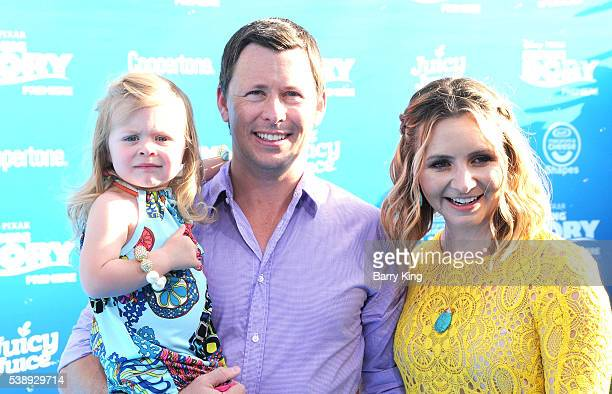 Actress Beverley Mitchell and Michael Cameron and Kenzie Cameron attend the world premiere of DisneyPixar's 'Finding Dory' at the El Capitan Theatre...
