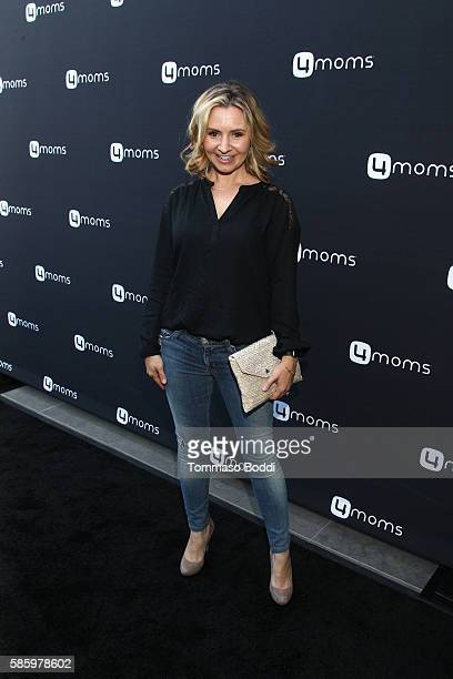 Actress Beverley Mitchell attends the 4moms Car Seat launch event at Petersen Automotive Museum on August 4 2016 in Los Angeles California