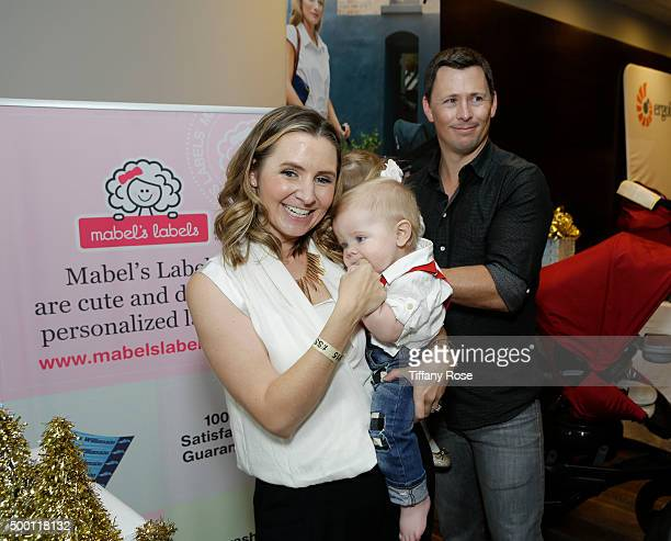 Actress Beverley Mitchell son Hutton Cameron daughter Kenzie Cameron and husband Michael Cameron attend 2015 Santa's Secret Workshop Benefiting LA...