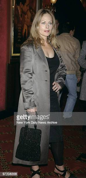 Actress Beverly D'Angelo arrives for the premiere of the movie Shakespeare in Love at the Ziegfeld Theater