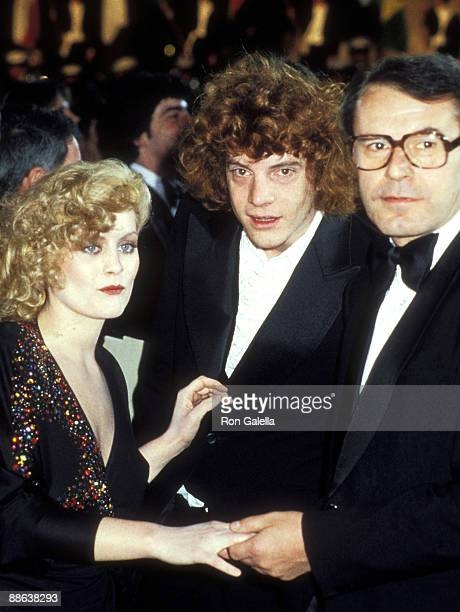 Actress Beverly D'Angelo businessman Jean Paul Getty III and director Milos Forman attend the Hair Century City Premiere on March 14 1979 at Plitt's...