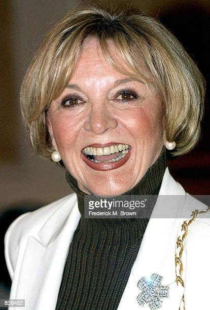 Actress Beverly Garland attends the Pacific Pioneer Broadcasters Lifetime Achievement Luncheon November 16 2001 in Los Angeles CA Actor Mike Connors...