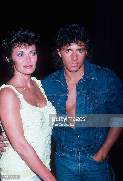 Actress Beverly Sassoon and Billy Hufsey attending Focus Magazine Party on August 7 1986 at Le Bel Age Hotel in Los Angeles California
