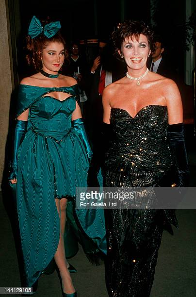 Actress Beverly Sassoon and daughter Catya Sassoon attending American Cancer Society Tribute to Nina Blanchard on February 1 1988 at the Beverly...