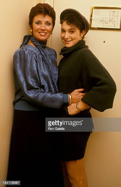 Actress Beverly Sassoon and model Catya Sassoon attending Sassoon Exclusive Photo Session on December 13 1984 at the Berkshire Hotel Suite in New...