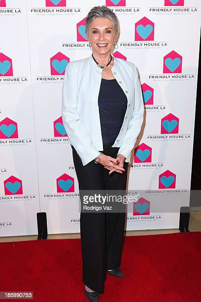 Actress Beverly Sassoon arrives at the Friendly House Los Angeles Annual Awards Luncheon at The Beverly Hilton Hotel on October 26 2013 in Beverly...
