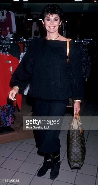 Actress Beverly Sassoon attending LIFE Benefit Fashion Show on September 27 1989 at the Glendale Mall in Glendale California