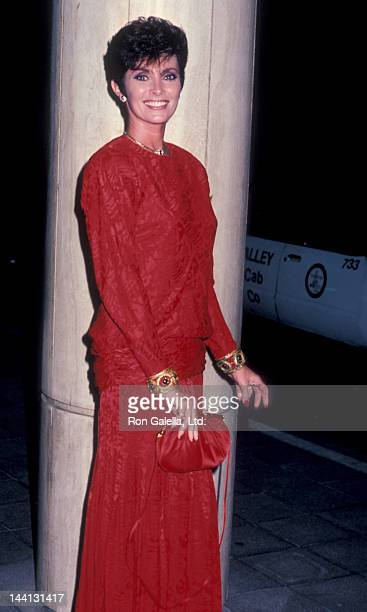 Actress Beverly Sassoon attending Sprint Fundraising Benefit Dinner on October 25 1985 at the Sheraton Universal Hotel in Universal City California