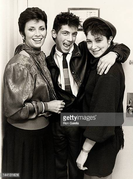 Actress Beverly Sassoon model Catya Sassoon and husband Luca Scalisi attending Sassoon Exclusive Photo Session on December 13 1984 at the Berkshire...