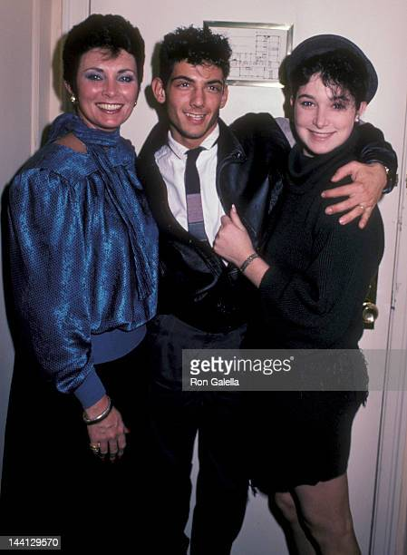 Actress Beverly Sassoon model Catya Sassoon and Luca Scalisi attending Sassoon Exclusive Photo Session on December 13 1984 at the Berkshire Hotel...