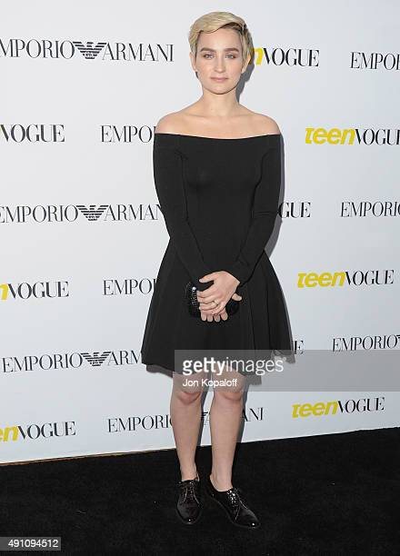 Actress Bex TaylorKlaus arrives at Teen Vogue's 13th Annual Young Hollywood Issue Launch Party on October 2 2015 in Los Angeles California
