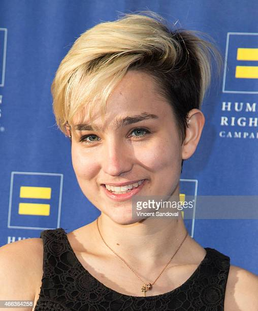 Actress Bex TaylorKlaus attends the 2015 Human Rights Campaign Los Angeles Gala dinner at JW Marriott Los Angeles at LA LIVE on March 14 2015 in Los...