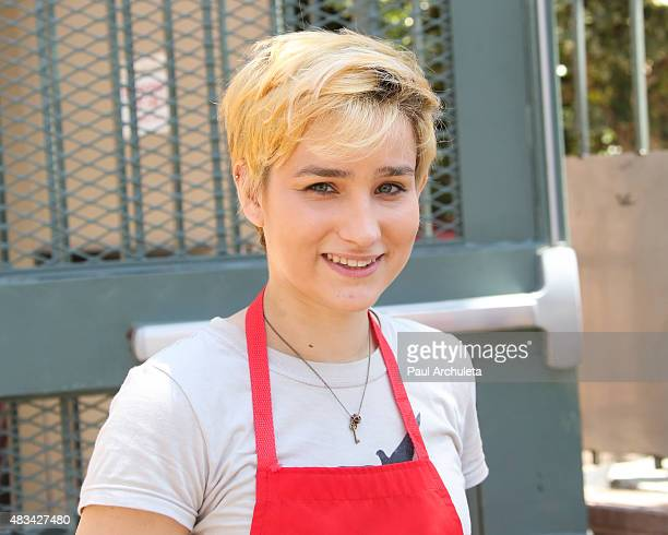 Actress Bex TaylorKlaus attends the Los Angeles Mission's End Of Summer Block Party Time To Enjoy Being A Kid at Los Angeles Mission on August 8 2015...