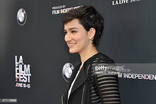 Actress Bex TaylorKlaus attends the MTV and Dimension TV premiere of Scream at the Los Angeles Film Festival on June 14 2015 in Los Angeles California