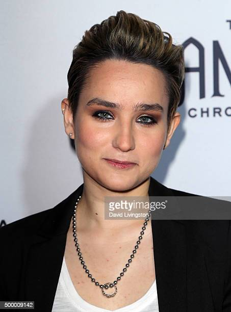 Actress Bex TaylorKlaus attends the premiere of MTV's The Shannara Chronicles at iPic Theaters on December 4 2015 in Los Angeles California