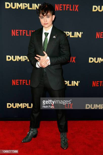 Actress Bex TaylorKlaus attends the premiere of Netflix's Dumplin' at TCL Chinese 6 Theatres on December 6 2018 in Hollywood California