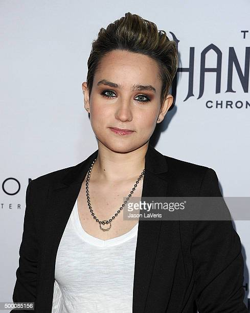 Actress Bex TaylorKlaus attends the premiere of The Shannara Chronicles at iPic Theaters on December 4 2015 in Los Angeles California