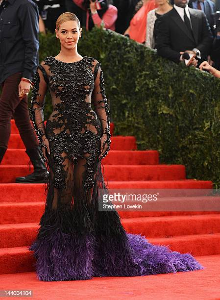 Actress Beyonce Knowles attends the Schiaparelli And Prada Impossible Conversations Costume Institute Gala at the Metropolitan Museum of Art on May 7...