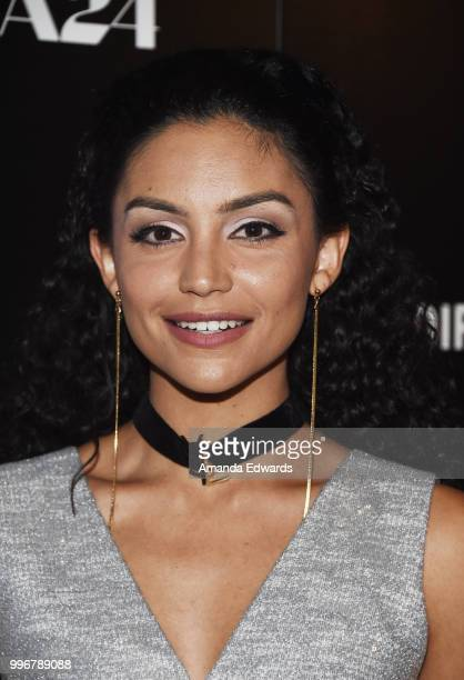 Actress Bianca A Santos arrives at the Los Angeles special screening of 'Hot Summer Nights' at the Pacific Theatres at The Grove on July 11 2018 in...