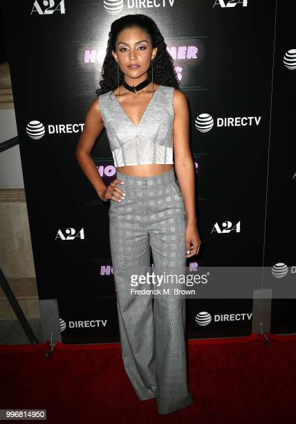 Actress Bianca A Santos attends the Screening of A24's 'Hot Summer Nights' at the Pacific Theatres at The Grove on July 11 2018 in Los Angeles...