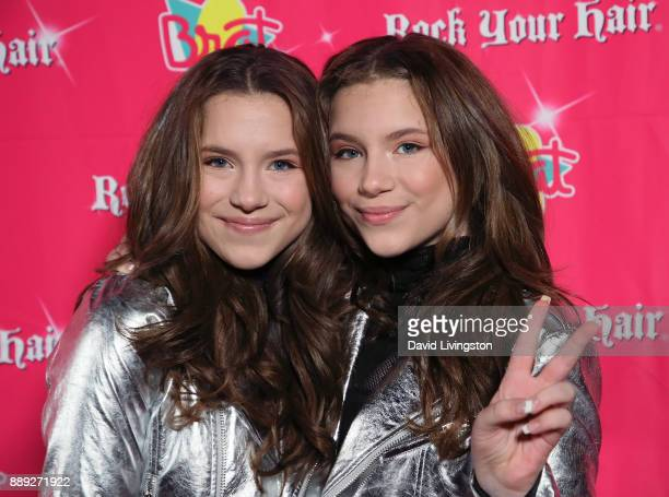 Actress Bianca D'Ambrosio and Chiara D'Ambrosio attend social media influencer Annie LeBlanc's 13th birthday party at Calamigos Beach Club on...