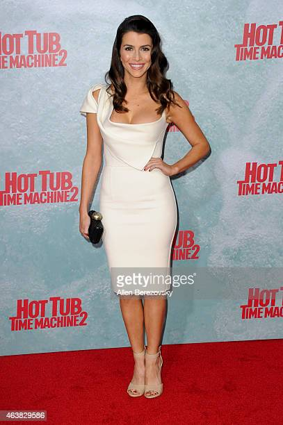 Actress Bianca Haase arrives at the Los Angeles premiere of Hot Tub Time Machine 2 at Regency Village Theatre on February 18 2015 in Westwood...