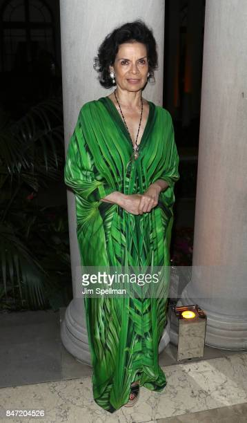 Actress Bianca Jagger attends the premiere of Manolo The Boy Who Made Shoes For Lizards hosted by Manolo Blahnik with The Cinema Society at The Frick...