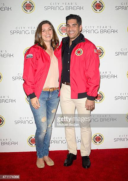 Actress Bianca Kajlich and radio personality Michael Catherwood attends City Year Los Angeles Spring Break at Sony Studios on April 25 2015 in Los...