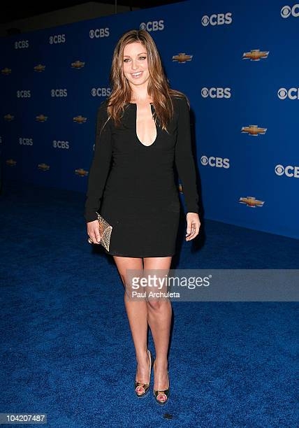 Actress Bianca Kajlich arrives at the CBS Fall Season premiere party on September 16 2010 in Los Angeles California