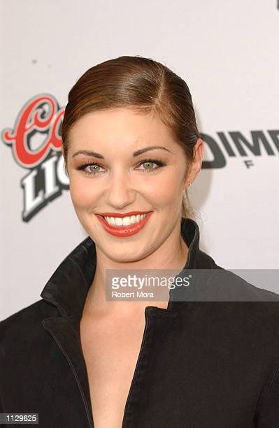 Actress Bianca Kajlich attends the premiere of Halloween Resurrection at the Mann Festival Theater on July 1 2002 in Westwood California The film...