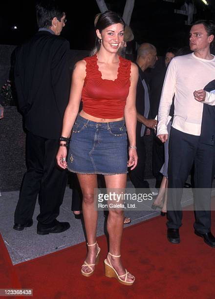 Actress Bianca Kajlich attends the Scary Movie 2 Westwood Premiere on July 2 2001 at GCC Avco Center Cinemas in Westwood California