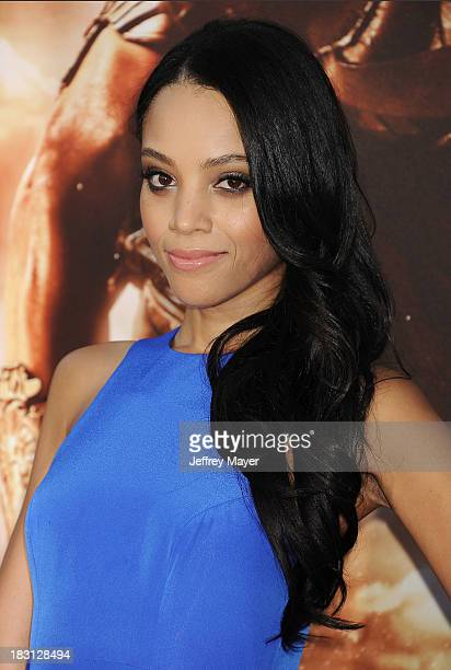 Actress Bianca Lawson arrives at the Los Angeles premiere of 'Riddick' at the Westwood Village Theatre on August 28 2013 in Westwood California
