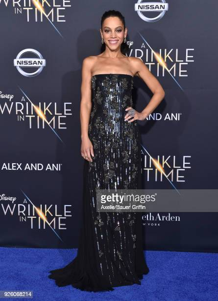 Actress Bianca Lawson arrives at the premiere of Disney's 'A Wrinkle In Time' at El Capitan Theatre on February 26 2018 in Los Angeles California