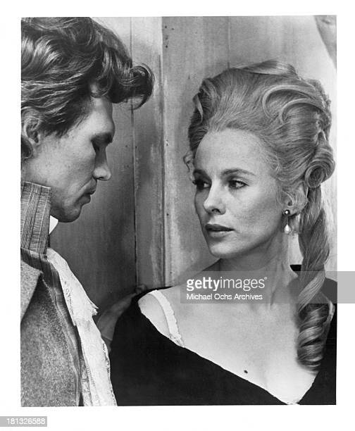 Actress Bibi Andersson and actor Per Oscarsson on set of the movie My Sister My Love in 1966