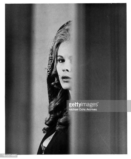 Actress Bibi Andersson on set of the movie My Sister My Love in 1966