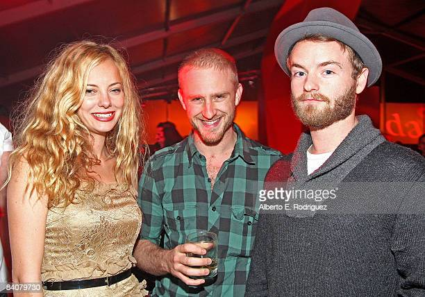 Actress Bijou Phillips actor Ben Foster and actor Christopher Masterson attend the after party for the premiere of Warner Bros Pictures' Yes Man on...