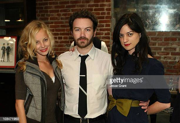 Actress Bijou Phillips actor Danny Masterson and Ilaria Urbinati attend the Confederacy Hearts Rag and Bone cocktail party held at Confederacy on...