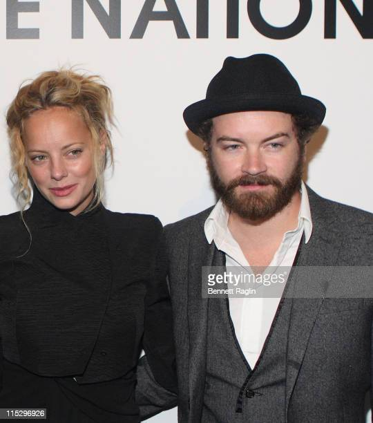 Actress Bijou Phillips and actor Danny Masterson attend the Costume National reception for Patti Smith Dream of Lifeat New Costume National on...