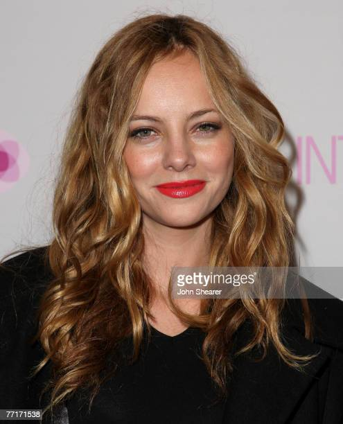 Actress Bijou Phillips arrives at the opening of the Intermix store on Robertson Boulevard on September 25 2007 in Los Angeles California