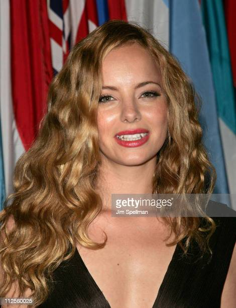 Actress Bijou Phillips arrives at the Trade Premiere at The United Nations on September 19 2007 in New York City