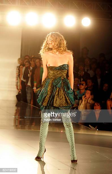 Actress Bijou Phillips walks the runway during the 'Pret A PSP' fashion show to celebrate the launch of the PlayStation handheld entertainment system...