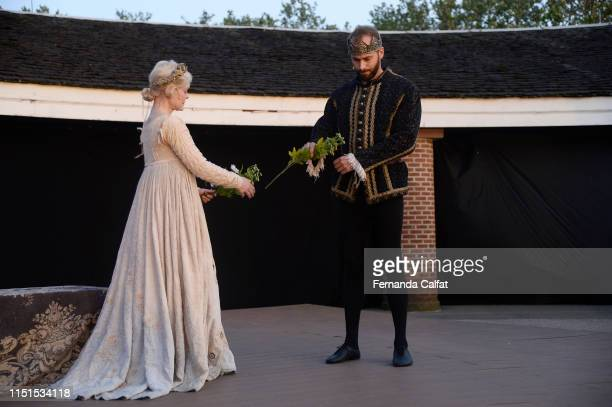Actress Billie Andersson on stage at Shakespeare Downtown Presents Hamlet at Castle Clinton National Monument Battery Park on June 22 2019 in New...
