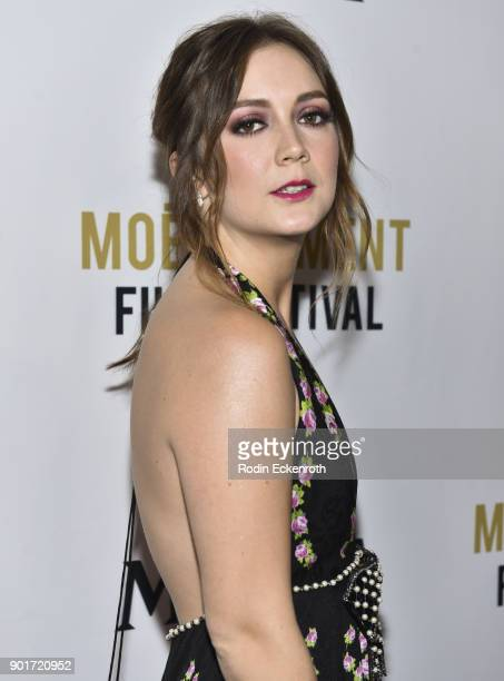 Actress Billie Lourd attends Moet and Chandon Celebrates 3rd Annual Moet Moment Film Festival and kick off of Golden Globes Week at Poppy on January...